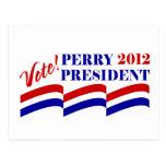 Voto Rick Perry para el presidente 2012 Postal