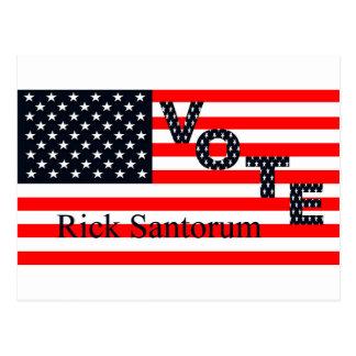 Voto Rick Santorum para el presidente 2016 Postal