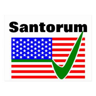 Voto Rick Santorum para el presidente Tarjetas Postales