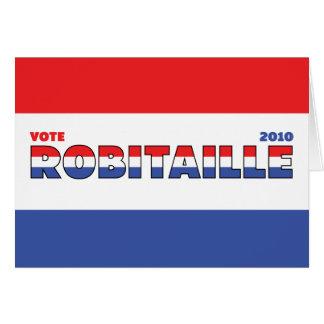 Voto Robitaille 2010 elecciones blanco y azul rojo Tarjeta De Felicitación