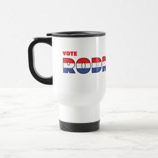 Voto Rodriguez 2010 elecciones blanco y azul rojos Tazas De Café