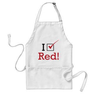 Voto rojo delantales
