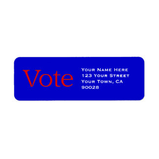 voto rojo etiqueta de remite