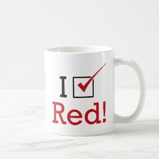 Voto rojo taza de café