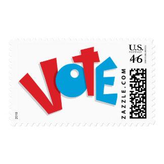 Voto rojo y azul