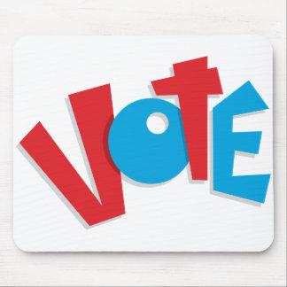 Voto rojo y azul alfombrilla de ratón