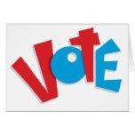 Voto rojo y azul felicitación