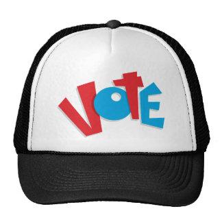 Voto rojo y azul gorros bordados