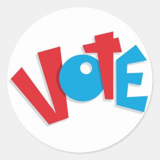 Voto rojo y azul pegatinas