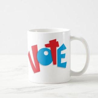 Voto rojo y azul taza de café