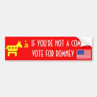 Voto Romney Pegatina Para Auto