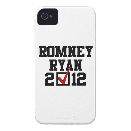 VOTO ROMNEY RYAN 2012 Case-Mate iPhone 4 FUNDAS