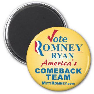 Voto Romney Ryan - Obama anti Imán Redondo 5 Cm