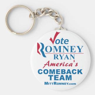 Voto Romney Ryan - Obama anti Llavero Redondo Tipo Pin