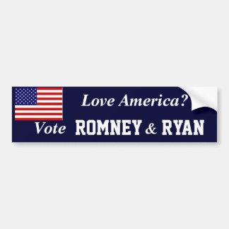 Voto Romney Ryan Pegatina Para Auto