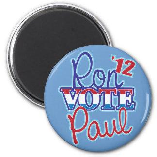 Voto Ron Paul '12 Imán Para Frigorífico