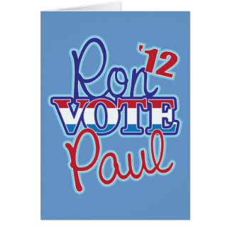 Voto Ron Paul '12 Tarjeta