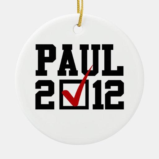 VOTO RON PAUL 2012 ORNAMENTO PARA ARBOL DE NAVIDAD