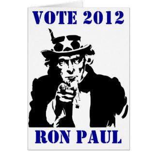 VOTO RON PAUL 2012 TARJETÓN