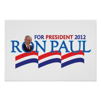 Voto Ron Paul para el poster 2012 del presidente e