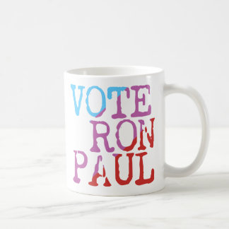 Voto Ron Paul para el presidente Taza Básica Blanca