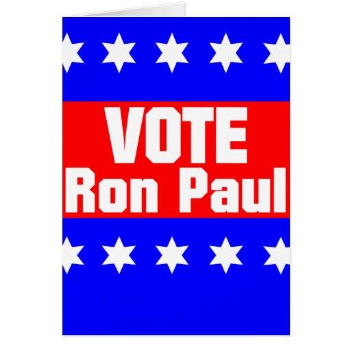 Voto Ron Paul Tarjeta De Felicitación