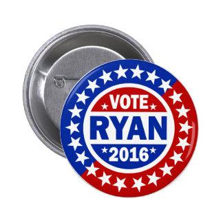 Voto Ryan 2016 Pin Redondo De 2 Pulgadas