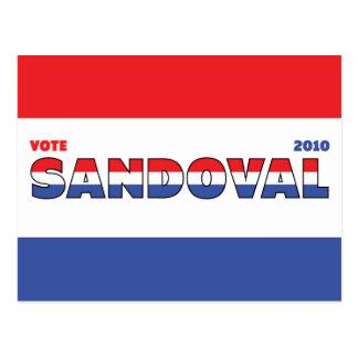 Voto Sandoval 2010 elecciones blanco y azul rojos Postales