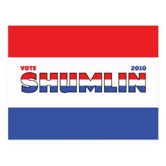 Voto Shumlin 2010 elecciones blanco y azul rojos Postales