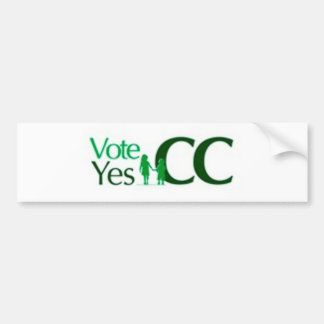 Voto sí en el cc pegatina para auto