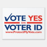 Voto SÍ en muestra del césped de la identificación