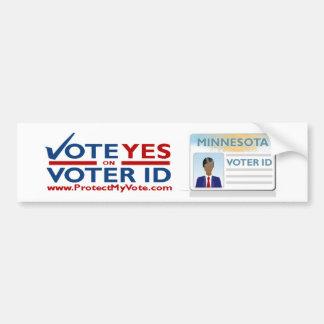 Voto sí en pegatina para el parachoques de la iden pegatina para auto