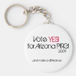 ¡Voto, SÍ! ¡, para Arizona PIRG! , 2009,… y mak… Llavero Redondo Tipo Pin