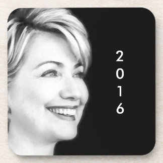 Voto sí para Hillary en 2016 Posavasos De Bebidas