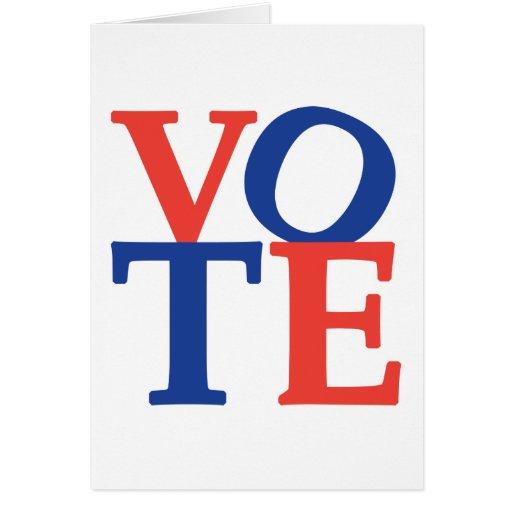 voto tarjeta de felicitación