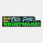 ¡VOTO! Termine la pesadilla de la fiesta del té Etiqueta De Parachoque