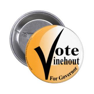 Voto Vinehout para el botón del gobernador Pins