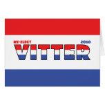 Voto Vitter 2010 elecciones blanco y azul rojos Tarjeta De Felicitación