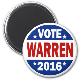 Voto Warren 2016 Imán De Frigorífico
