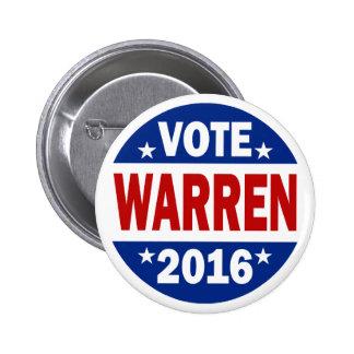 Voto Warren 2016 Pin
