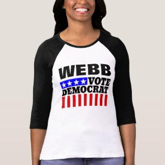 Voto Webb Demócrata para el presidente T-shirt