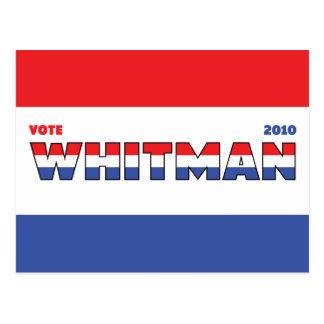 Voto Whitman 2010 elecciones blanco y azul rojos Postales