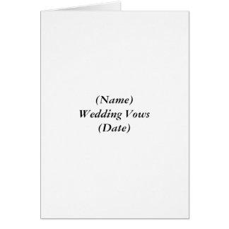 Votos de boda (conocidos) (fecha) tarjeta pequeña
