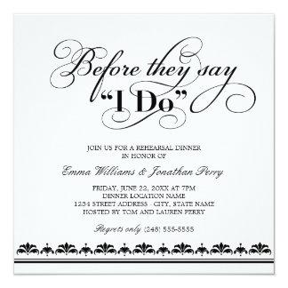 Votos de boda de la invitación el | de la cena del