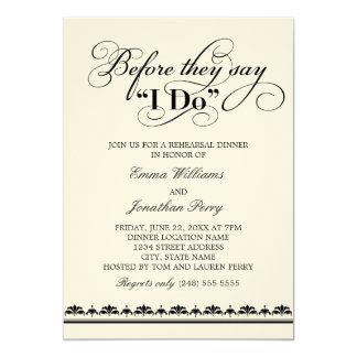 Votos de boda de la invitación el | de la cena del invitación 12,7 x 17,8 cm