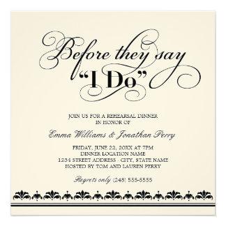 Votos de boda de la invitación el de la cena del