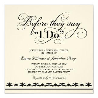 Votos de boda de la invitación el | de la cena del invitación 13,3 cm x 13,3cm
