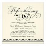 Votos de boda de la invitación el | de la ducha invitación 13,3 cm x 13,3cm