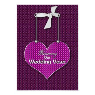"""Votos de boda de renovación - corazones de la invitación 5"""" x 7"""""""