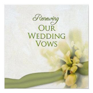 Votos de boda de renovación - invitación -